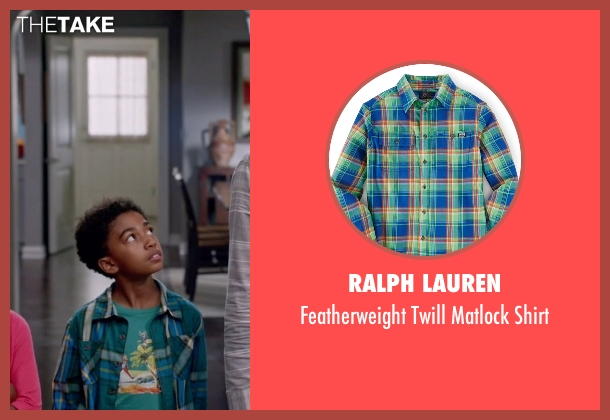 Ralph Lauren green shirt from Black-ish seen with Jack Johnson (Miles Brown)