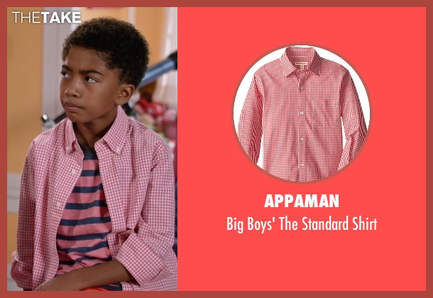 Appaman pink shirt from Black-ish seen with Jack Johnson (Miles Brown)