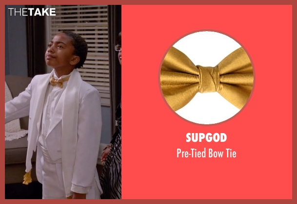 Supgod tie from Black-ish seen with Jack Johnson (Miles Brown)
