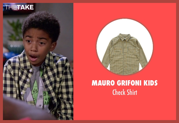 Mauro Grifoni Kids yellow shirt from Black-ish seen with Jack Johnson (Miles Brown)