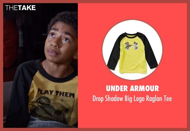Under Armour yellow tee from Black-ish seen with Jack Johnson (Miles Brown)