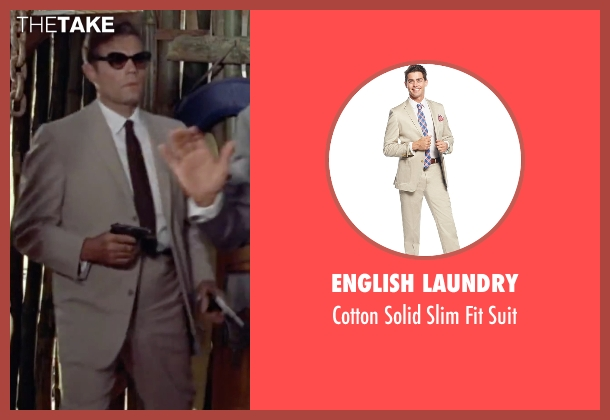 English Laundry beige suit from Dr. No seen with Jack Lord (Felix Leiter)