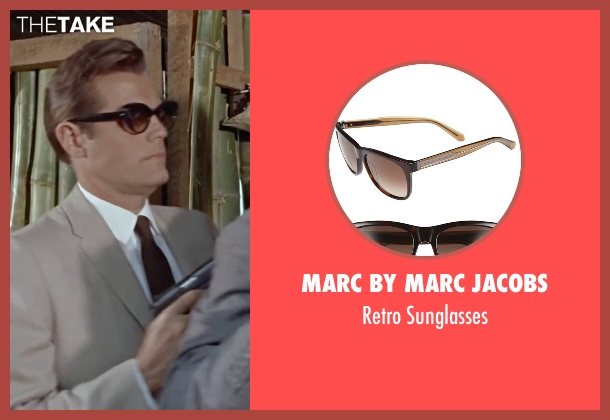 Marc by Marc Jacobs brown sunglasses from Dr. No seen with Jack Lord (Felix Leiter)