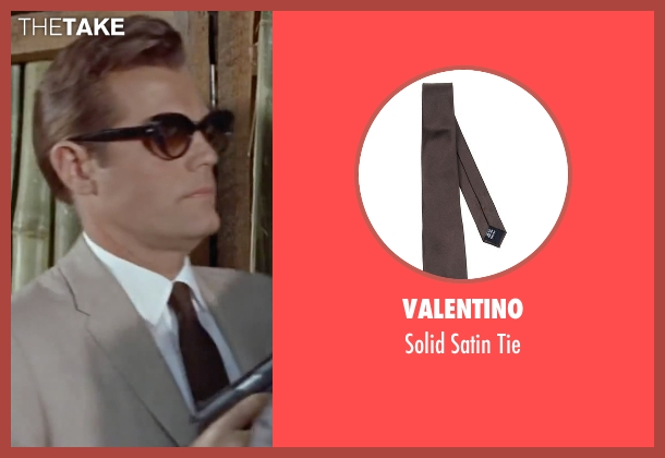 Valentino brown tie from Dr. No seen with Jack Lord (Felix Leiter)