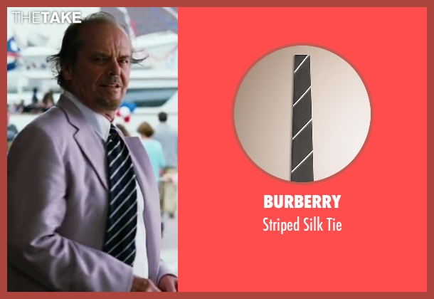 Burberry black tie from The Departed seen with Jack Nicholson (Frank Costello)