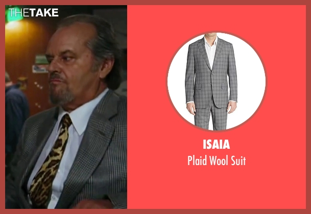 Isaia gray suit from The Departed seen with Jack Nicholson (Frank Costello)