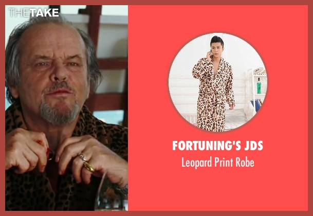 Fortuning's JDS robe from The Departed seen with Jack Nicholson (Frank Costello)