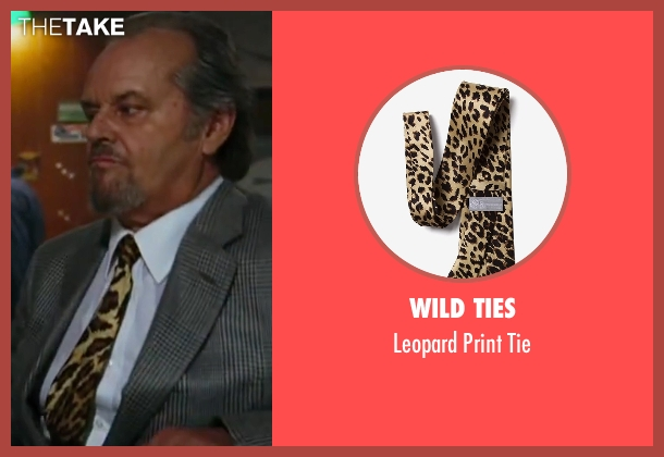 Wild Ties tie from The Departed seen with Jack Nicholson (Frank Costello)