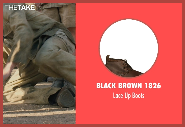 Black Brown 1826 brown boots from Unbroken seen with Jack O'Connell (Louis Zamperini)