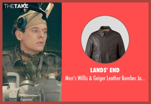 Lands' End brown jacket from Unbroken seen with Jack O'Connell (Louis Zamperini)
