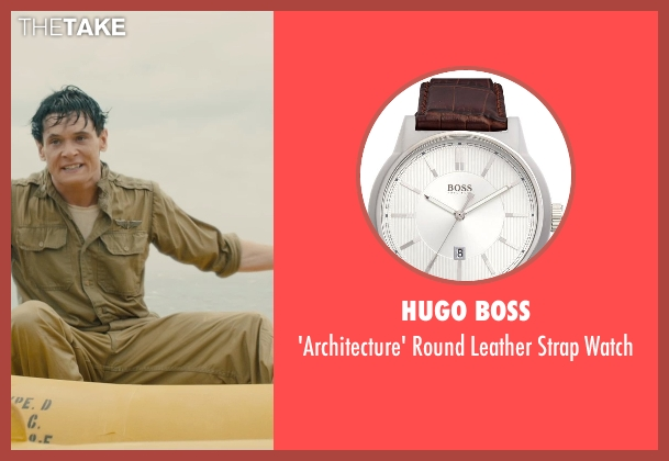 Hugo Boss brown watch from Unbroken seen with Jack O'Connell (Louis Zamperini)