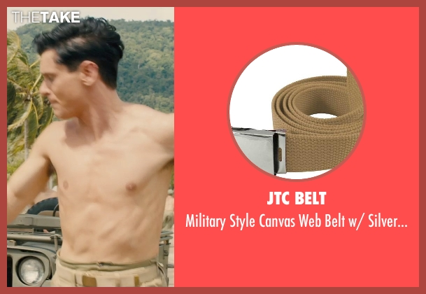 JTC Belt buckle from Unbroken seen with Jack O'Connell (Louis Zamperini)
