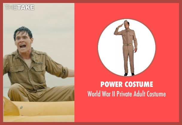 Power Costume costume from Unbroken seen with Jack O'Connell (Louis Zamperini)