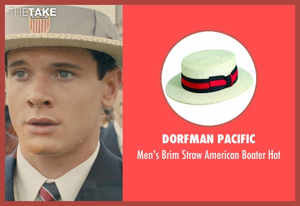 Dorfman Pacific hat from Unbroken seen with Jack O'Connell (Louis Zamperini)