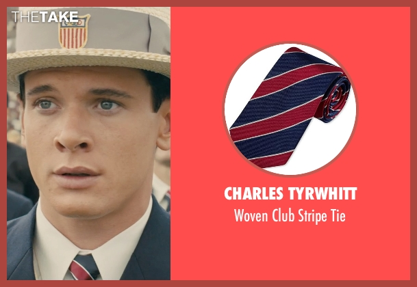 Charles Tyrwhitt tie from Unbroken seen with Jack O'Connell (Louis Zamperini)
