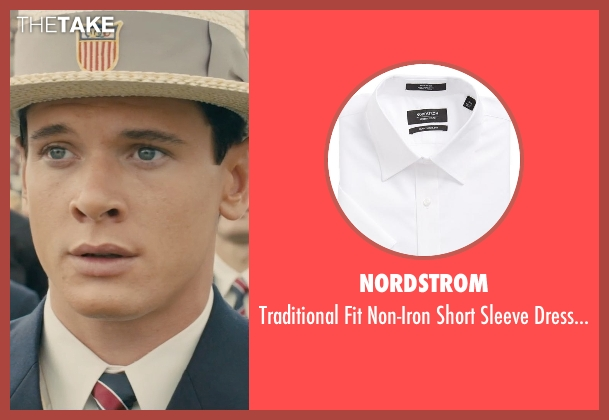 Nordstrom white shirt from Unbroken seen with Jack O'Connell (Louis Zamperini)