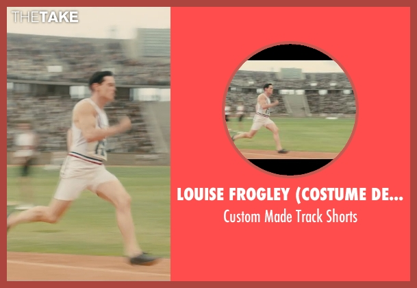 Louise Frogley (Costume Designer) white shorts from Unbroken seen with Jack O'Connell (Louis Zamperini)