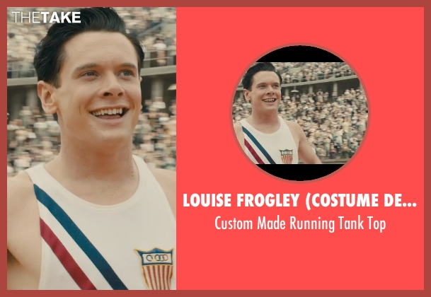 Louise Frogley (Costume Designer) white top from Unbroken seen with Jack O'Connell (Louis Zamperini)