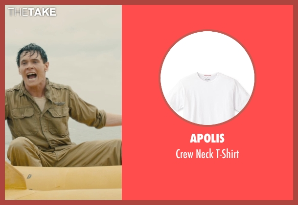 Apolis white t-shirt from Unbroken seen with Jack O'Connell (Louis Zamperini)