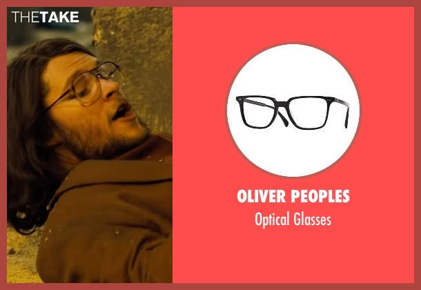 Oliver Peoples black glasses from Free Fire seen with Jack Reynor (Harry)