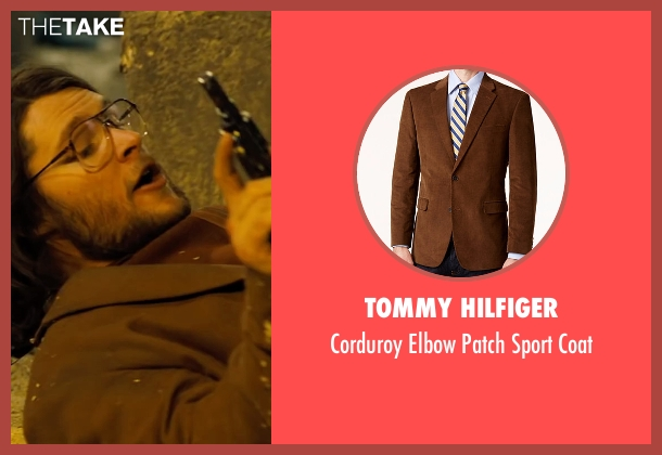 Tommy Hilfiger brown coat from Free Fire seen with Jack Reynor (Harry)