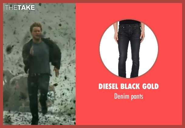 DIESEL BLACK GOLD gray pants from Transformers: Age of Extinction seen with Jack Reynor (Shane)