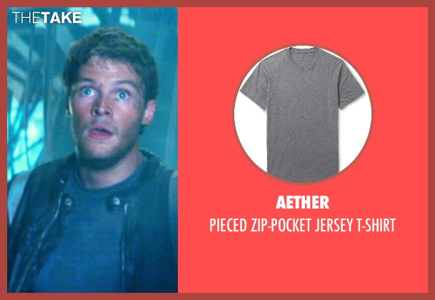 AETHER gray t-shirt from Transformers: Age of Extinction seen with Jack Reynor (Shane)
