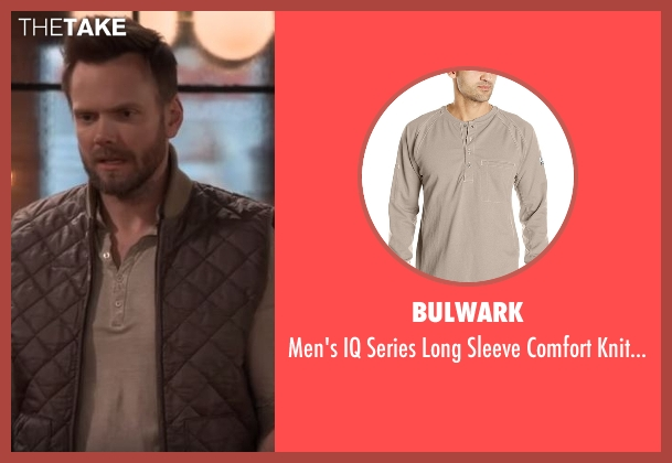 Bulwark beige henley from The Great Indoors seen with Jack (Joel McHale)
