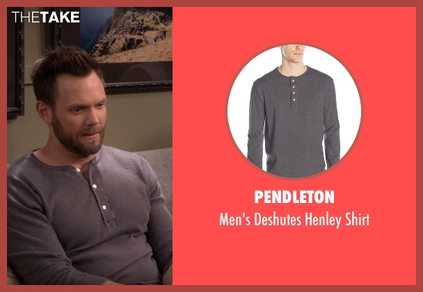 Pendleton gray shirt from The Great Indoors seen with Jack (Joel McHale)