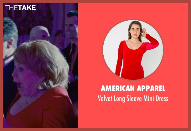 American Apparel red dress from Silver Linings Playbook seen with Jacki Weaver (Dolores)