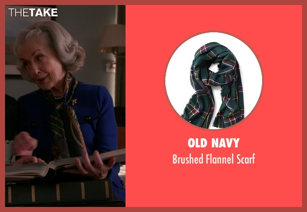 Old Navy green scarf from The Good Wife seen with Jackie Florrick (Mary Beth Peil)