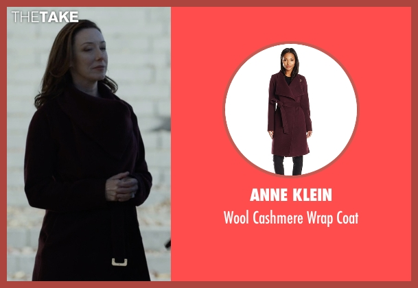Anne Klein red coat from House of Cards seen with Jackie Sharp (Molly Parker)