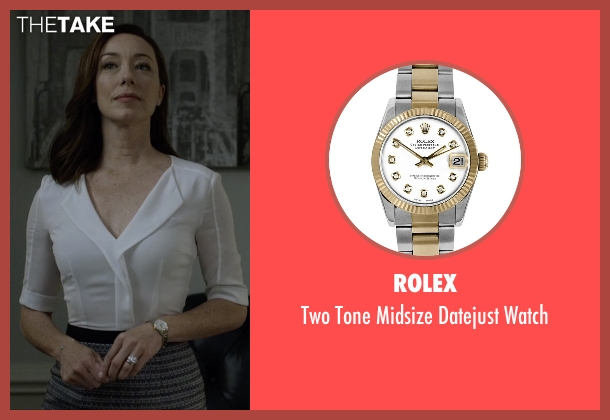 Rolex  watch from House of Cards seen with Jackie Sharp (Molly Parker)