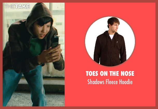 Toes on the Nose brown hoodie from Kick-Ass seen with Jacob Cartwright (Running Teenager)
