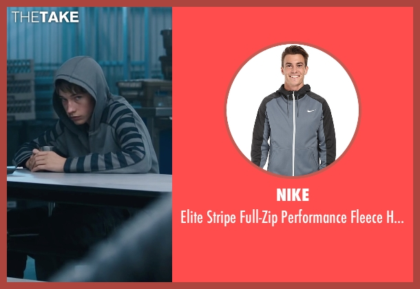 Nike gray hoodie from Maze Runner: The Scorch Trials seen with Jacob Lofland (Aris Jones)