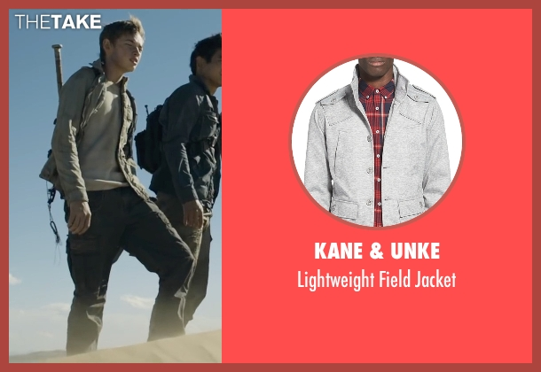 Kane & Unke gray jacket from Maze Runner: The Scorch Trials seen with Jacob Lofland (Aris Jones)