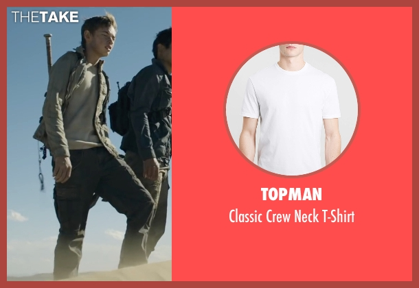 Topman white t-shirt from Maze Runner: The Scorch Trials seen with Jacob Lofland (Aris Jones)