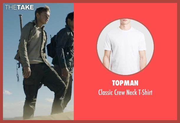 Topman white t-shirt from Maze Runner: The Scorch Trials seen with Jacob Lofland (Aris Jones)