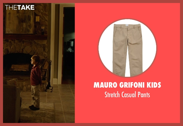 Mauro Grifoni Kids beige pants from Before I Wake seen with Jacob Tremblay (Cody)