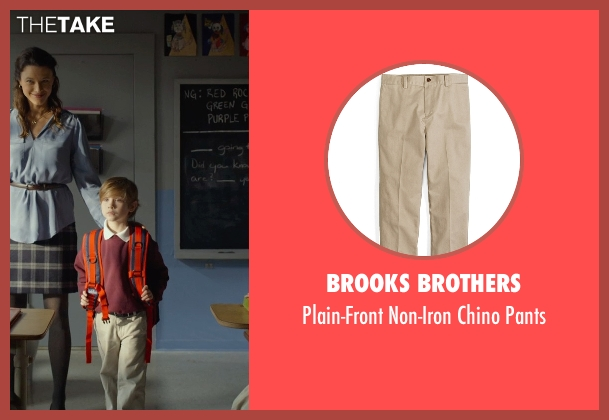 Brooks Brothers beige pants from Before I Wake seen with Jacob Tremblay (Cody)