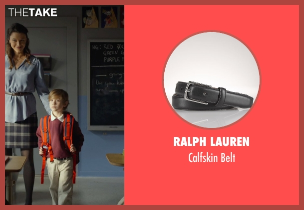 Ralph Lauren black belt from Before I Wake seen with Jacob Tremblay (Cody)