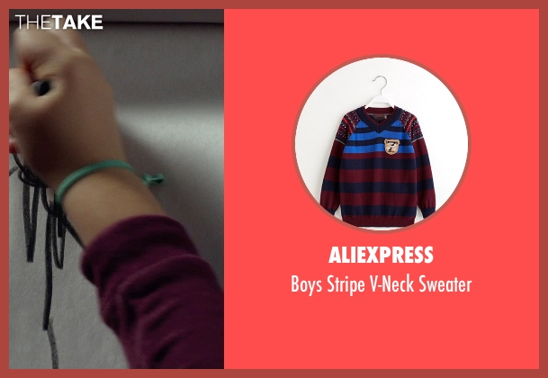 AliExpress red sweater from Before I Wake seen with Jacob Tremblay (Cody)