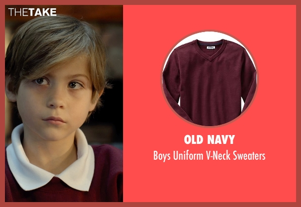 Old Navy red sweaters from Before I Wake seen with Jacob Tremblay (Cody)