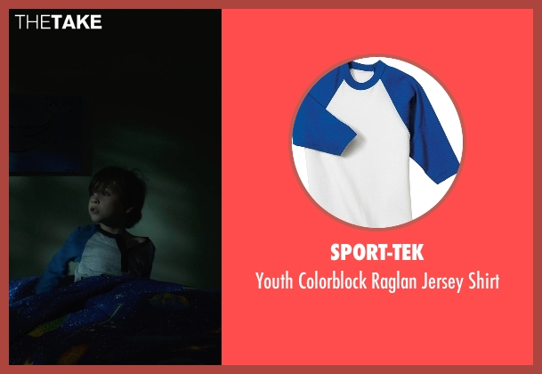 Sport-Tek white shirt from Before I Wake seen with Jacob Tremblay (Cody)