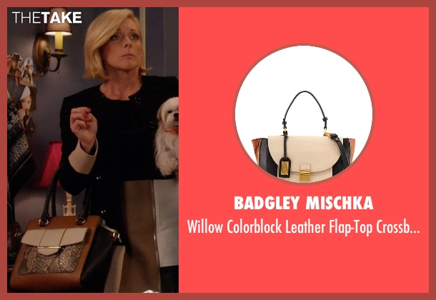 Badgley Mischka black bag from Unbreakable Kimmy Schmidt seen with Jacqueline Voorhes (Jane Krakowski)