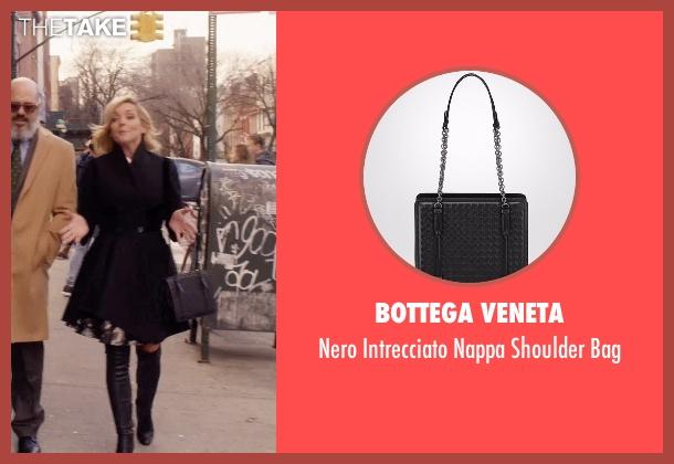 Bottega Veneta black bag from Unbreakable Kimmy Schmidt seen with Jacqueline Voorhes (Jane Krakowski)