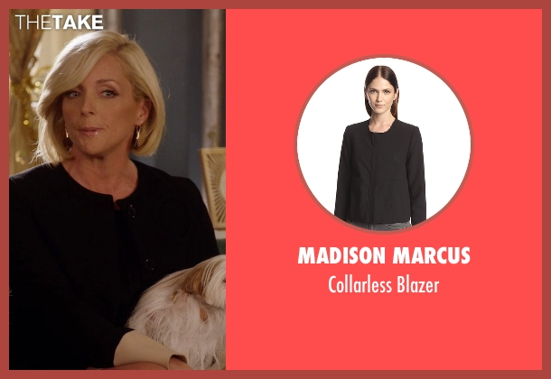 Madison Marcus black blazer from Unbreakable Kimmy Schmidt seen with Jacqueline Voorhes (Jane Krakowski)
