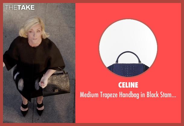 Celine black calfskin from Unbreakable Kimmy Schmidt seen with Jacqueline Voorhes (Jane Krakowski)