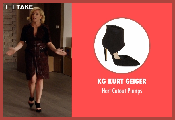 KG Kurt Geiger black pumps from Unbreakable Kimmy Schmidt seen with Jacqueline Voorhes (Jane Krakowski)