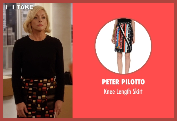 Peter Pilotto black skirt from Unbreakable Kimmy Schmidt seen with Jacqueline Voorhes (Jane Krakowski)
